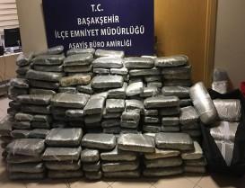 Başakşehir'de 22 valizde 676 kilogram Uyuşturucu Yakalandı