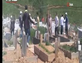 Başakşehir'de mezarlıkta kavga!