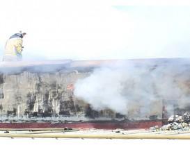 İOSB'de iş yerinin çatısı alev alev yandı