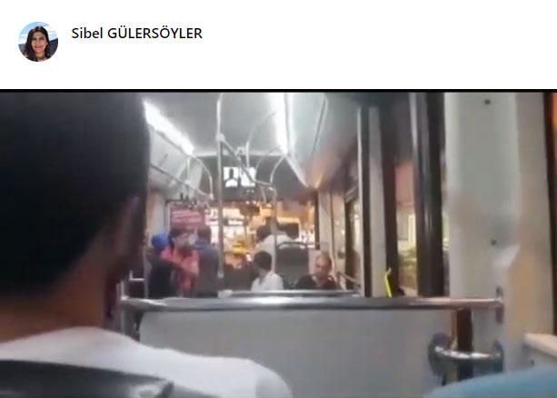 Yenibosna-Kayaşehir seferini yapan otobüsten böyle atıldı