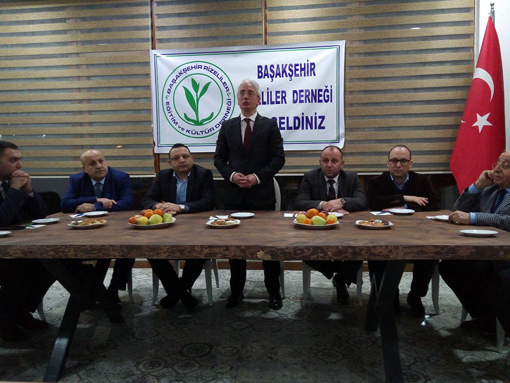 Başakşehir Rizeliler Derneği MHP Heyetini Misafir Etti