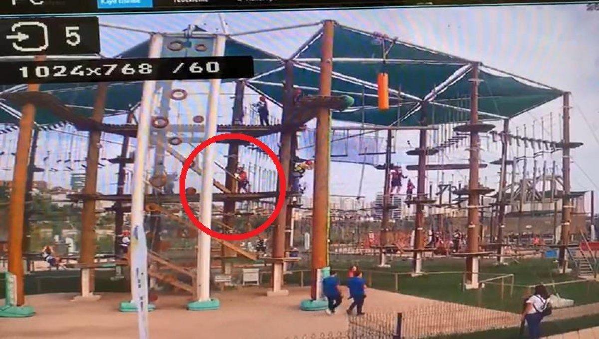 Başakşehir'de parktaki çocuk 5 metreden düştü