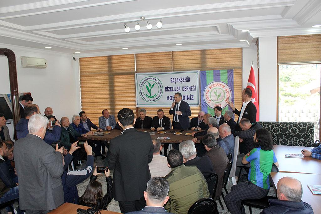Rizespor Başkanı Başakşehirli Rizelilerle Bir Arada