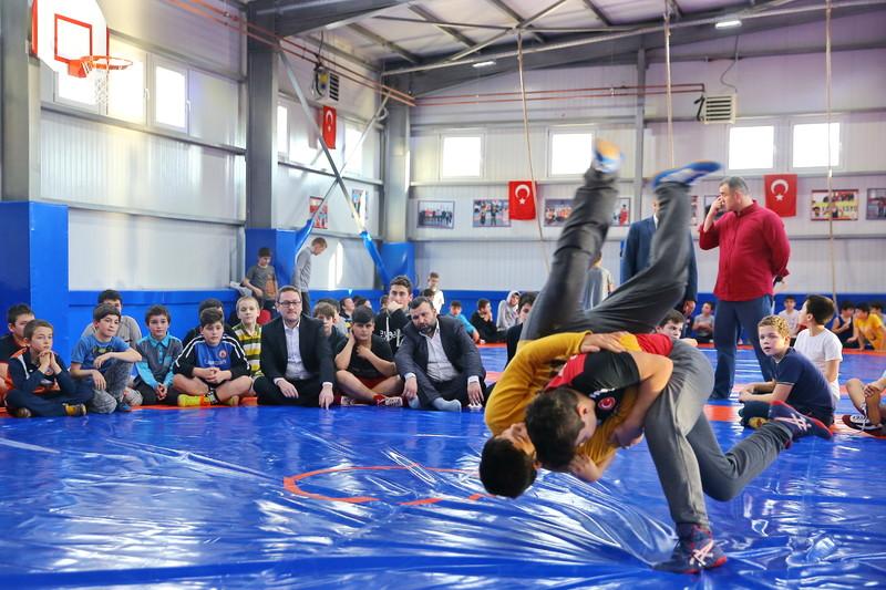 Başakşehir güreş salonuna kavuştu