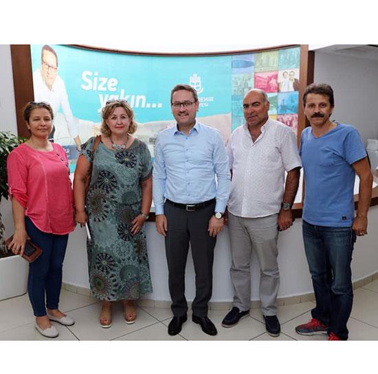4. Etap platformu Başakşehir Belediye Başkanı Yasin Kartoğlu'nu Ziyaret etti