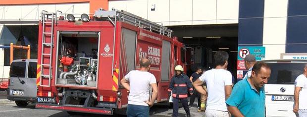 Bahçeşehir'de pazar yerinde yangın paniği