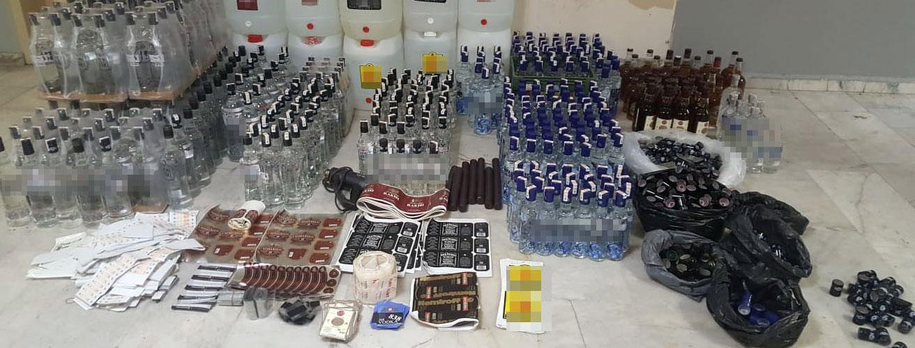 Başakşehir'de Yine Sahte İçki Kaçakçıları Yakalandı