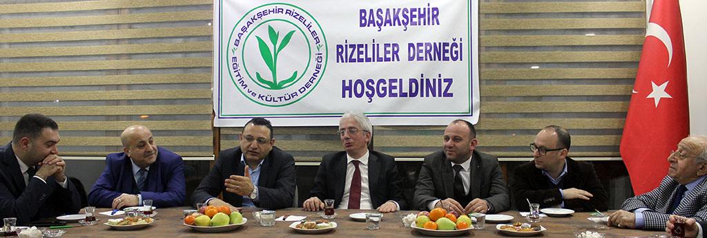 Başakşehir Rizelilere Derneği MHP Heyetini Misafir Etti